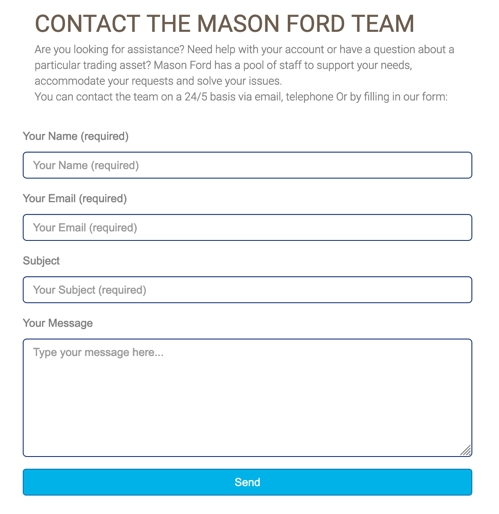 Benefits of trading at Mason Ford