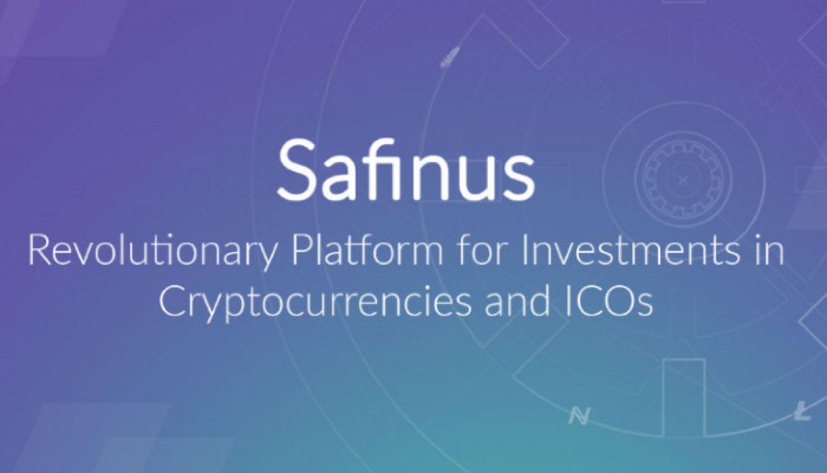 Safinus platform will help investors with cryptoassets