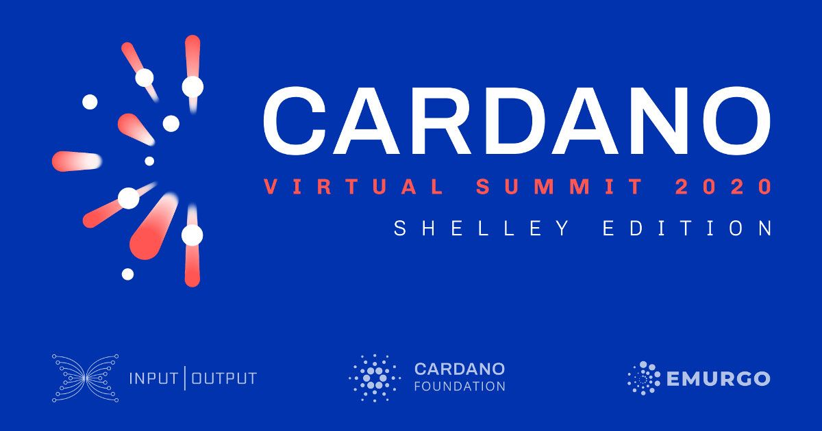 IOHK, EMURGO and Cardano Foundation announce global Cardano virtual summit to celebrate the start of a new' era for the Cardano blockchain project