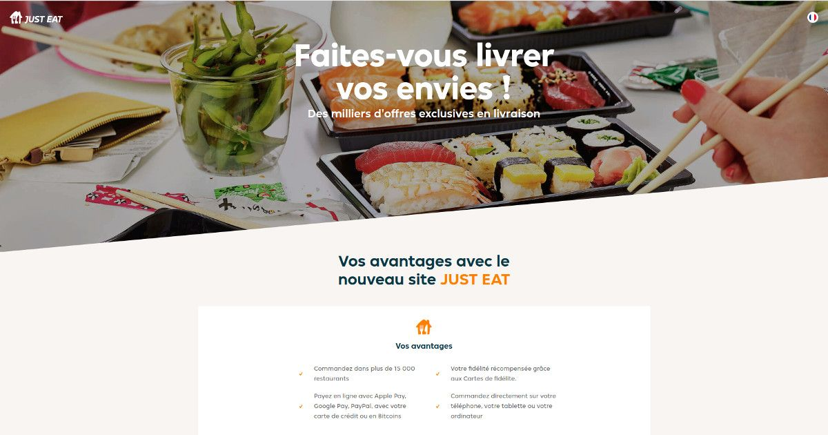 Just Eat Adds Bitcoin Payment Option for 15,000 French Restaurants