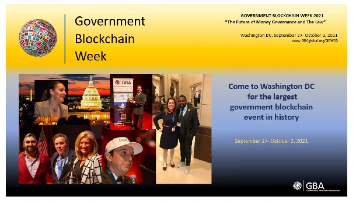 Government Blockchain Week is Coming to Washington DC